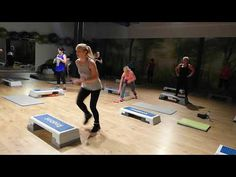 Tabata power step - YouTube Step Aerobic Workout, Aerobics Workout, Tabata, Cardio, Fitness Workout For Women, Fitness Diet, Step Ejercicios, Step Aerobics, Youtube Workout