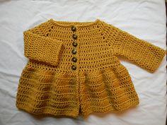 Penelope Cardigan - Crochet pattern by Lady Jay Crochet. Source by cottencandy Sweaters Crochet Toddler Sweater, Toddler Cardigan, Crochet Baby Sweaters, Crochet Cardigan Pattern, Crochet Girls, Crochet Baby Clothes, Newborn Crochet, Crochet For Kids, Baby Knitting
