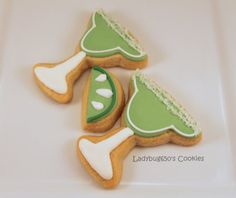 Margarita cookies handmade with key lime icing  One by ladybug650, $24.00
