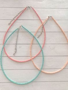 Seed Bead Necklace, Seed Bead Jewelry, Bead Jewellery, Diy Necklace, Cute Jewelry, Diy Jewelry, Beaded Jewelry, Jewelry Design, Beaded Bracelets