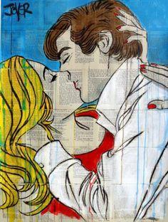 "Saatchi Art Artist LOUI JOVER; Drawing, ""pop romatics"" #art"
