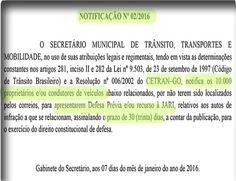 Infrações de trânsito: SMT Goiânia notifica dez mil condutores e abre prazos para defesas e recursos contra multas de trânsito 74550 7.1.16 +http://brml.co/1TIdWJo