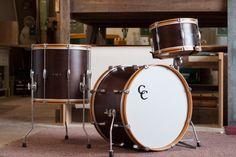 CC Drums in brown wood