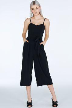 Staple- Black Lounge Jumpsuit ($129AUD) by BlackMilk Clothing