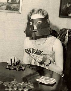 practising her pokerface