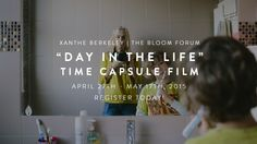 A new online workshop sharing how you can create your own Day In The Life film. From Xanthe Berkeley at @thebloomforum