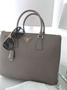 adb6752255ef Gray Prada handbag Prada Bag, Prada Handbags, Best Handbags, Handbags  Online, Louis