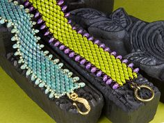 Dragon Scales Bracelets - good diagrams from ArtBeads  ~ Seed Bead Tutorials