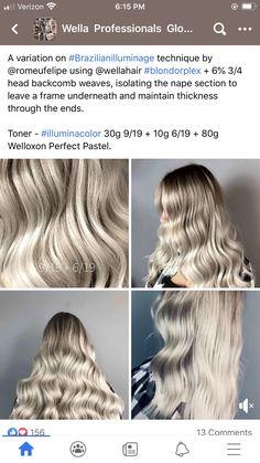 Hair Color Formulas, Hair Painting, Hair Art, Haircolor, Hairdresser, Dyed Hair, Cool Hairstyles, Hair Beauty, Long Hair Styles