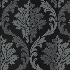 Splendour Black Grey Wallpaper