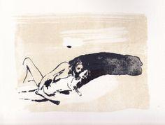 Nina Kovacheva lithograph: 2 lovers