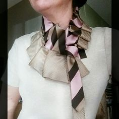 Upcycled ties from Desert Pearl Designs are a unique and ecofriendly statement piece for your wardrobe. Come find yours!