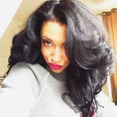 Natural Hair Roller Set - omg, her hair gives me life! Natural Hair Roller Set - omg, her hair gives Long Curly Hair, Big Hair, Curly Hair Styles, Natural Hair Styles, Curly Afro, Deep Curly, Thick Hair, Love Hair, Great Hair