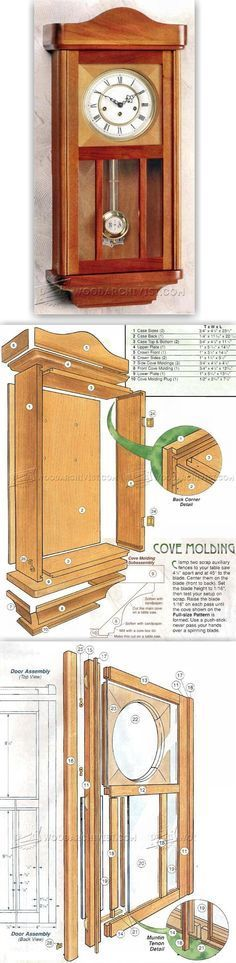 Wall Clock Plans - Woodworking Plans and Projects   WoodArchivist.com