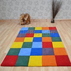 Colourbox Multi Coloured Wool Rug