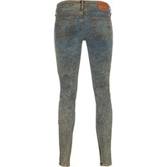 TRUE RELIGION Amanda Lonestar Mischief Patterned skinny jeans ($400) ❤ liked on Polyvore