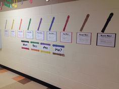 This was a totally easy and totally cool thing to make for the hallway to get my students excited (and keep them informed) about Recorder Karate. I didn't come up with this and totally have to...