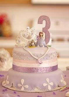Delicious Sofia the First cake, hand made by @Cody Barnes.
