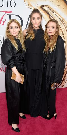PHOTOS: See the Hottest Looks from the 2016 CFDA Fashion Awards - Ashley Olsen, Elizabeth Olsen and Mary-Kate Olsen from InStyle.com
