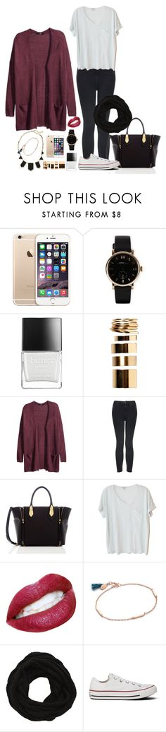 """""""tenue n° 66"""" by dalilaa-496 ❤ liked on Polyvore featuring House of Harlow 1960, Marc by Marc Jacobs, Butter London, Boohoo, H&M, Topshop, Henri Bendel, Clu, Shashi and VILA"""