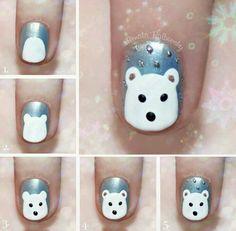 Christmas bear nail