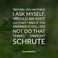 25 of the Funniest Dwight Schrute Quotes To Make You Smile Today – Office İnspiration Office Quotes Michael, Michael Scott Quotes, Short Funny Quotes, Inspirational Quotes For Women, Dwight Schrute Quotes, Dwight Quotes, Quotable Quotes, Quotes Quotes, Photo Quotes