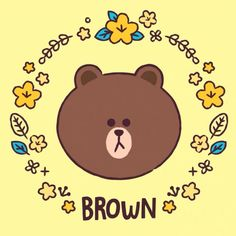 Line Friends, Hello Kitty, Lime, Icons, Bear, Brown, Fictional Characters, Bear Wallpaper, Caricatures