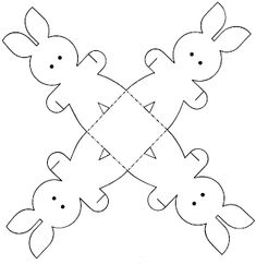 EASTER BUNNY Box. Print, cut out & assemble. Bunnies hold hands and stand up!  (Already saved under Crafts)