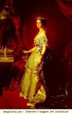 Franz Xaver Winterhalter. Empress Eugénie. Olga's Gallery.