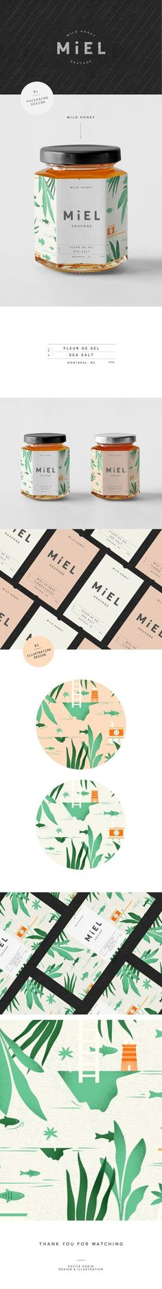 Miel Sauvage Wild Honey Branding and Packaging by Cecile Godin | Fivestar Branding Agency – Design and Branding Agency & Curated Inspiration Gallery