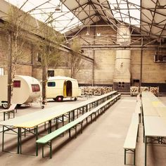 """This multi-purpose venue has been pitched in the Baltic Triangle by a group of friends from neighbouring creative firms as """"an antidote to the super-slick"""", with a strong sense of the outdoors in the cavernous premises – check out the piles of lumber for the huge wood-burning stove..."""