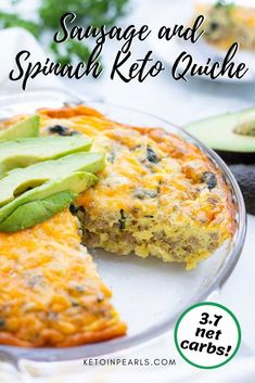 Are you looking for a great keto breakfast recipe? Well, this is it! This keto quiche is savory, satisfying, and easy to make! Whether it's breakfast, brunch, or dinner, you're going to love this crustless twist on a French classic. Make this easy low carb breakfast quiche for your family. #keto #lowcarb #breakfast #easyrecipe #familyrecipe #ketorecipe Low Carb Quiche, Keto Quiche, Breakfast Dishes, Breakfast Recipes, Food Preparation, Family Meals, Spinach, Keto Recipes, Sausage