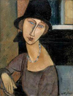 Amedeo Modigliani - Jeanne Hebuterne, 1917 | Masterpiece of Art