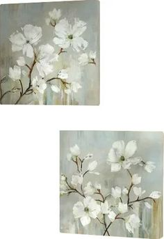 Andover Mills Holland Spring Mix - 2 Piece Picture Frame Set Print Set on Paper 3 Piece Painting, Painting Frames, Painting Prints, Paintings, Metal Wall Art, Wood Art, Botanical Wall Art, Magnolia Flower, Blooming Flowers