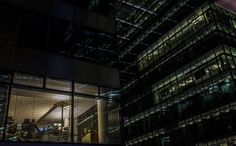 Berlin - Working late Hours - Impression at night from a new building complex at Kurfürstendamm, Berlin