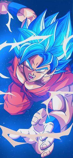 Dragon Ball Z Red Goku iPhone Wallpaper - iPhone Wallpapers Dragon Ball Gt, Blue Dragon, Art And Illustration, Wallpaper Do Goku, Dragonball Wallpaper, Dragonball Goku, Goku 2, Super Goku, Super Saiyan