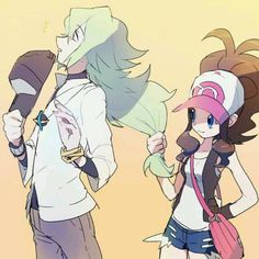N x Touko - Pokemon I ship them hard and if I was Touko then I'd be doing the…