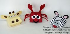 More Hamburger Box Critters  by kittystamp - Cards and Paper Crafts at Splitcoaststampers