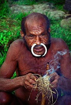 Mountain people of Irian Jaya still make fire from wood and rattan . Indonesia