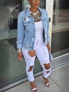 the very best casual outfit a fashionista should have in her closet at the moment Denim Fashion, Look Fashion, Autumn Fashion, Fashion Outfits, Womens Fashion, Fashion Trends, Classy Fashion, Fashion 2018, Cheap Fashion