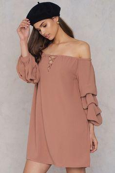 Off Shoulder Premium Sleeve Dress