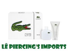 Kit Perfume Eau de Lacoste L.12.12 Blanc Masculino 100ml EDT Eau de Toilette + Gel Pós Barba 100ml Lacoste