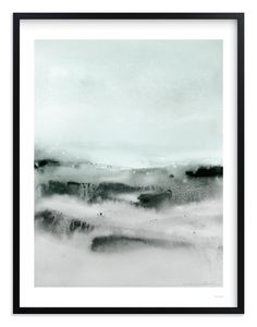 """""""Watercolor Abstract Lands Series : Winter 2"""" - Art Print by V E R Y M A R T A in beautiful frame options and a variety of sizes."""