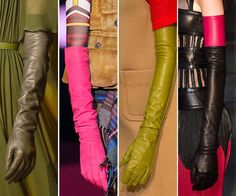 Fall/ Winter 2015-2016 Accessory Trends: Elbow Length Gloves  #accessories #trends