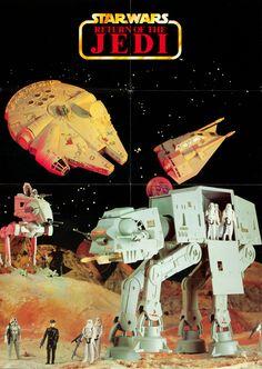 Star Wars Return of the Jedi Kenner Toys Ad - found on tumbler Nave Star Wars, Star Wars Set, Star Wars Toys, Retro Toys, Vintage Toys, Gi Joe, Jouet Star Wars, Kenner Toys, Star Wars Merchandise