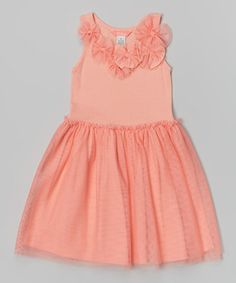 Another great find on #zulily! Coral Michele Dress - Infant & Toddler #zulilyfinds