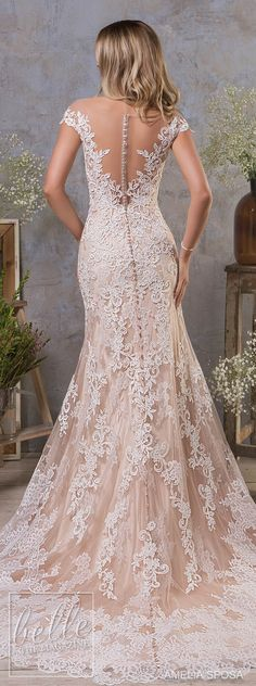 Amelia Sposa Fall 2018 Wedding Dresses lace bridal gown #weddingdress #bridalgown #bridal #weddinggown #bridalcouture