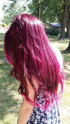 Pink hair ♡ #pinkhair #colorfulhair