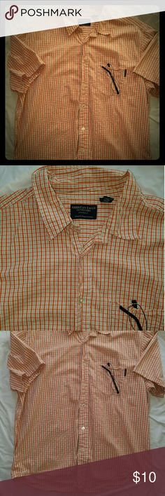 Mens American Eagle plaid button up  shirt xl Men's xl dress shirt from American Eagle. It is still crisp but needs ironed from storage. American Eagle Outfitters Shirts Casual Button Down Shirts
