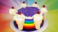 cookies cupcakes and cardio rainbow cake - YouTube